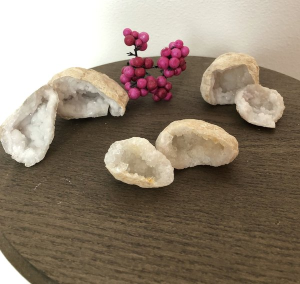 Bergkristal Geode set (mini)